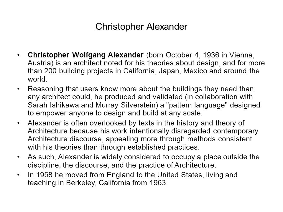 Christopher Alexander