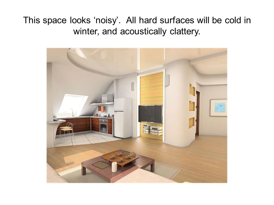 This space looks 'noisy'