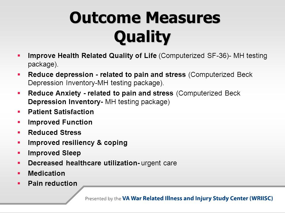 Outcome Measures Quality