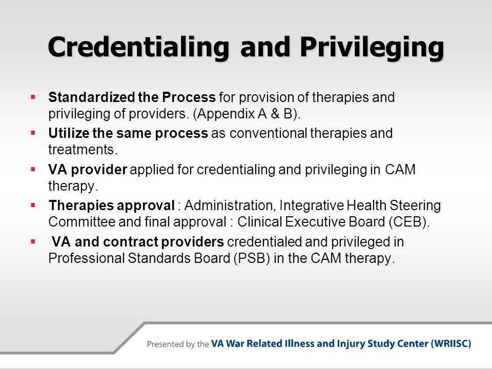 Credentialing and Privileging