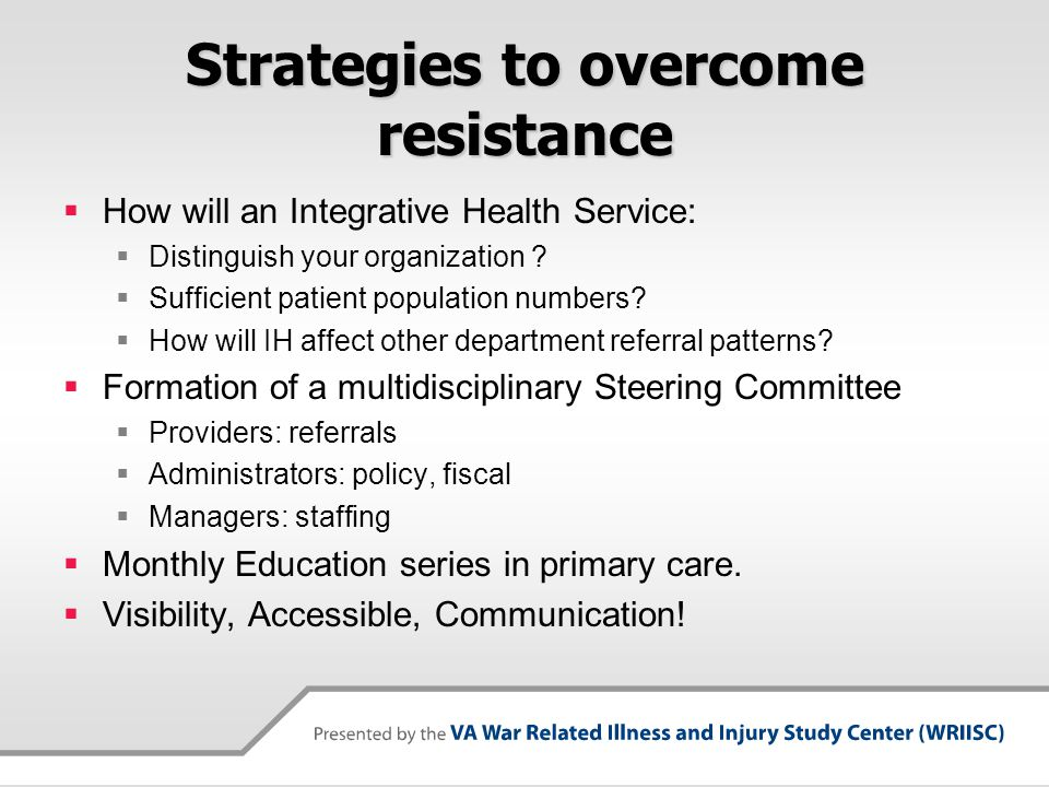 Strategies to overcome resistance