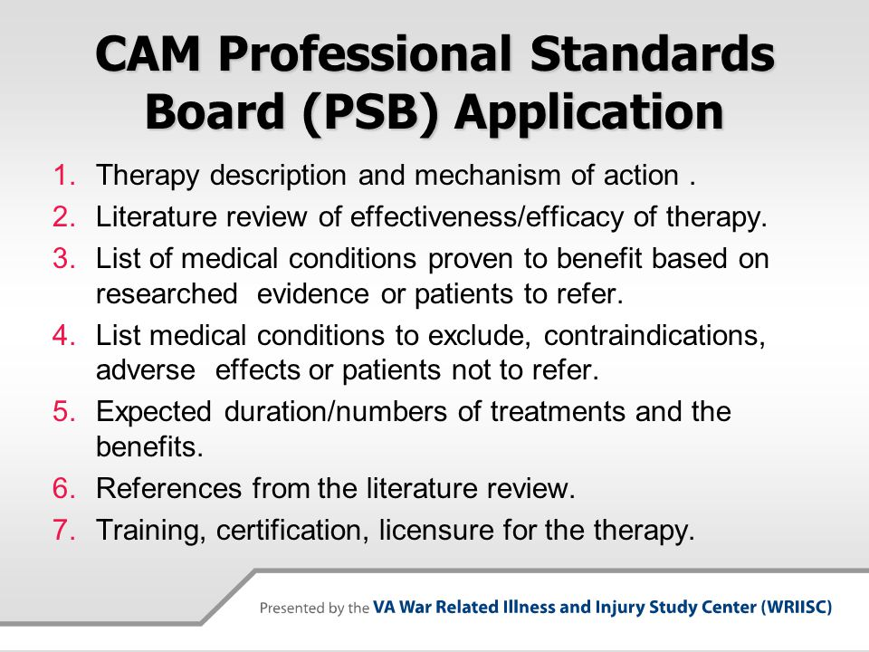 CAM Professional Standards Board (PSB) Application