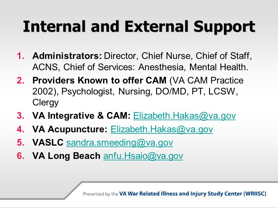 Internal and External Support