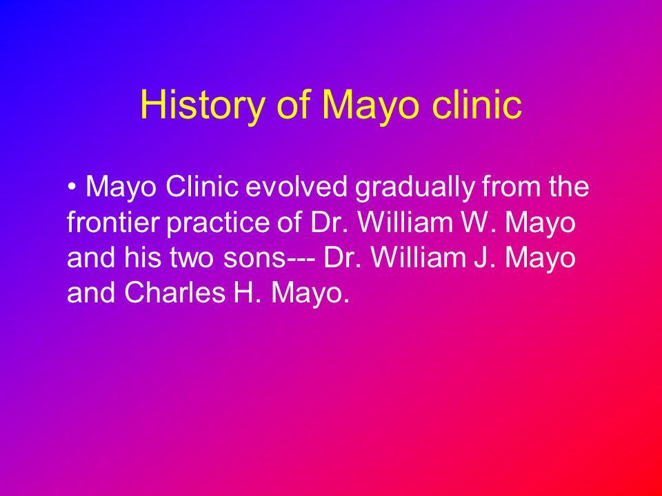 History of Mayo clinic