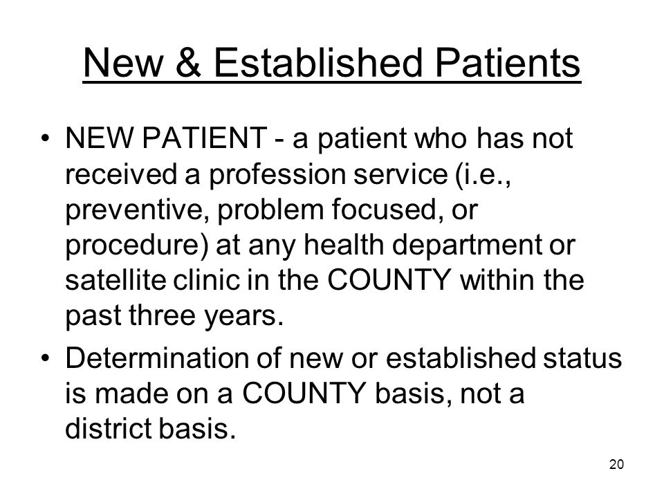 New & Established Patients