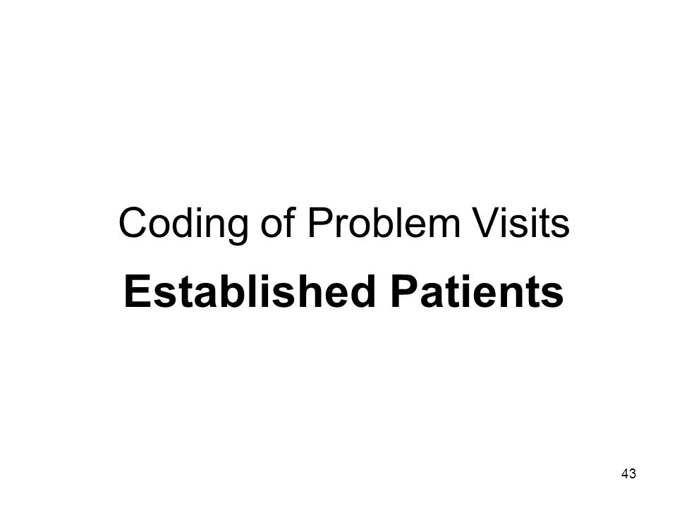 Coding of Problem Visits