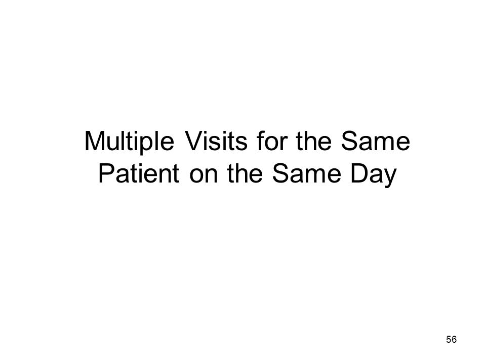 Multiple Visits for the Same Patient on the Same Day