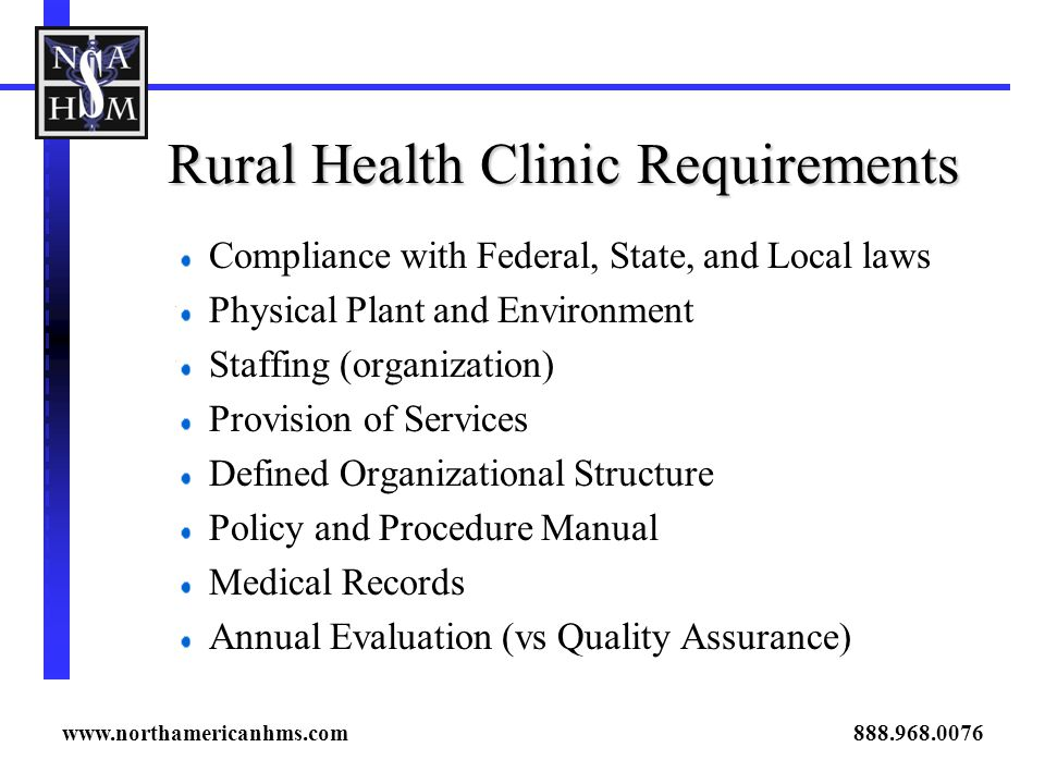Rural Health Clinic Requirements