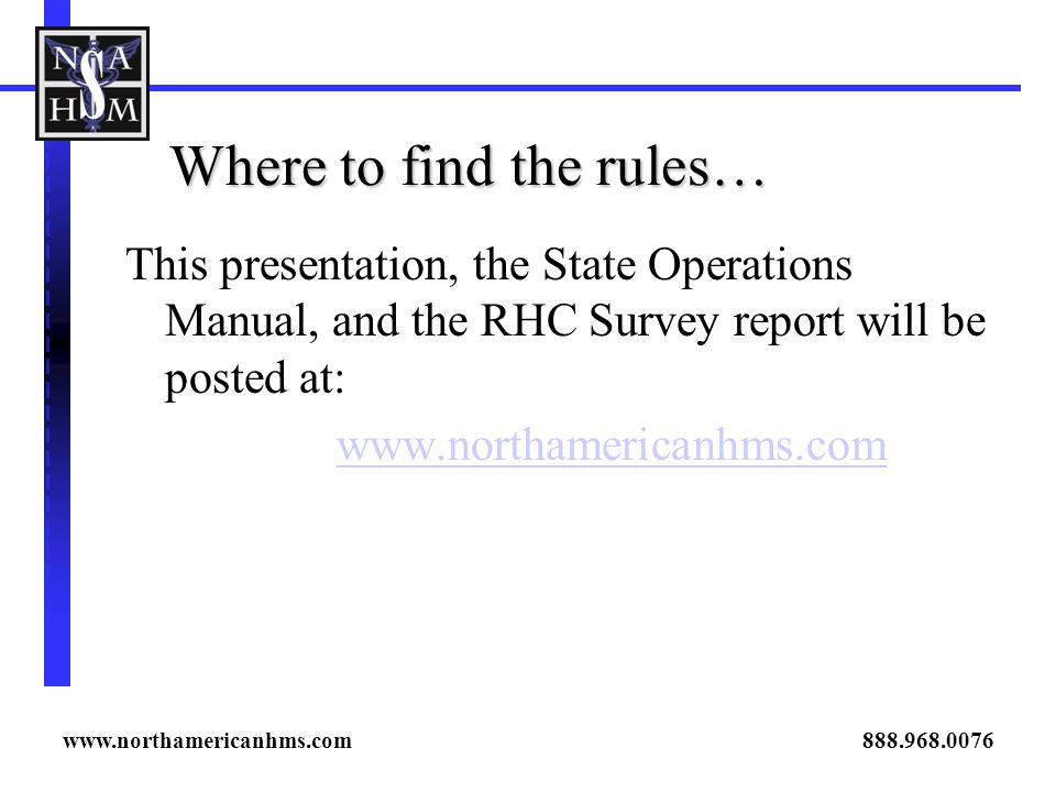 Where to find the rules…