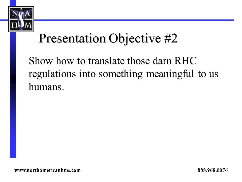 Presentation Objective #2