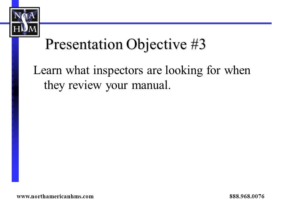 Presentation Objective #3