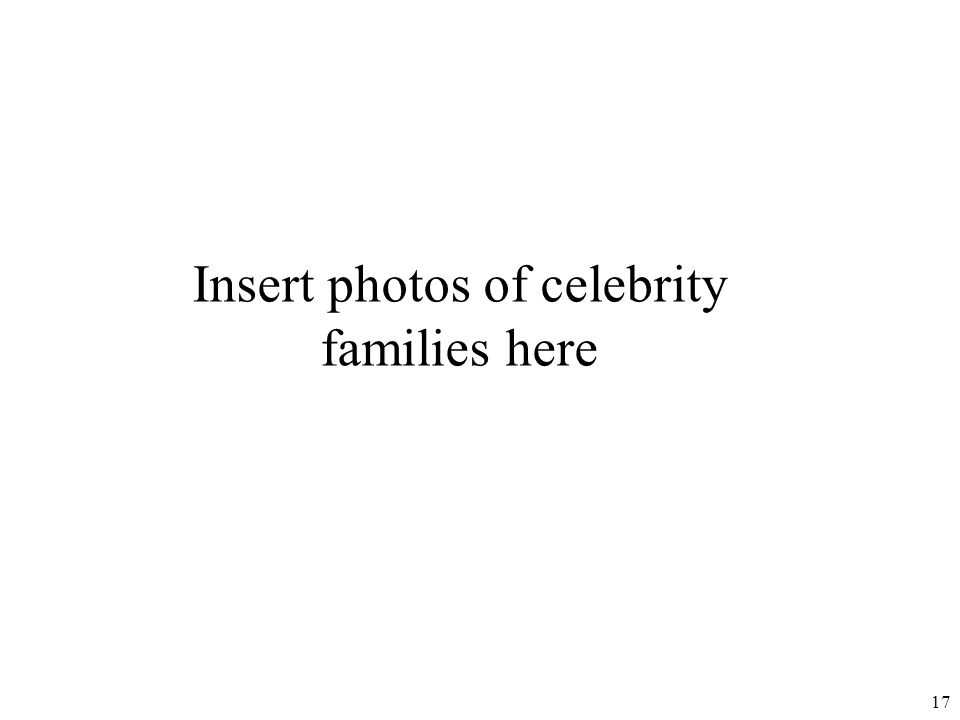 Insert photos of celebrity families here