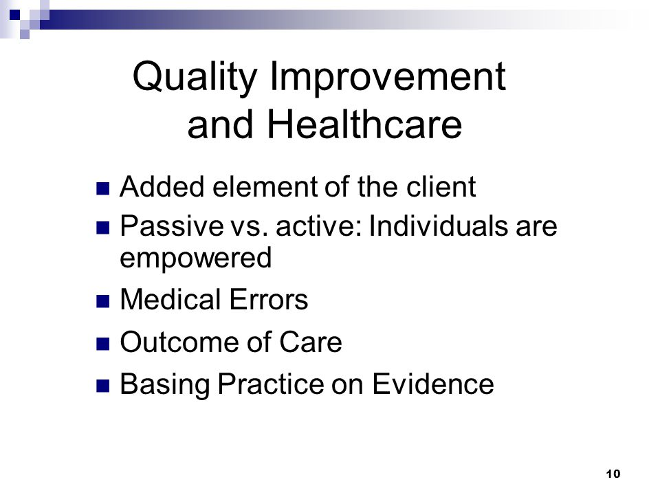 Quality Improvement and Healthcare