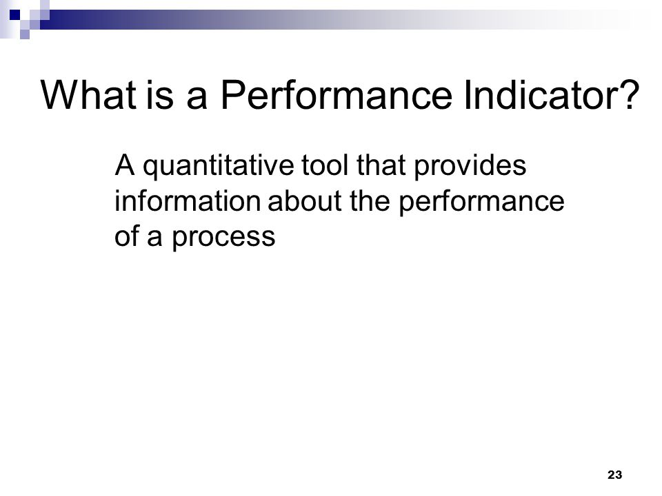 What is a Performance Indicator
