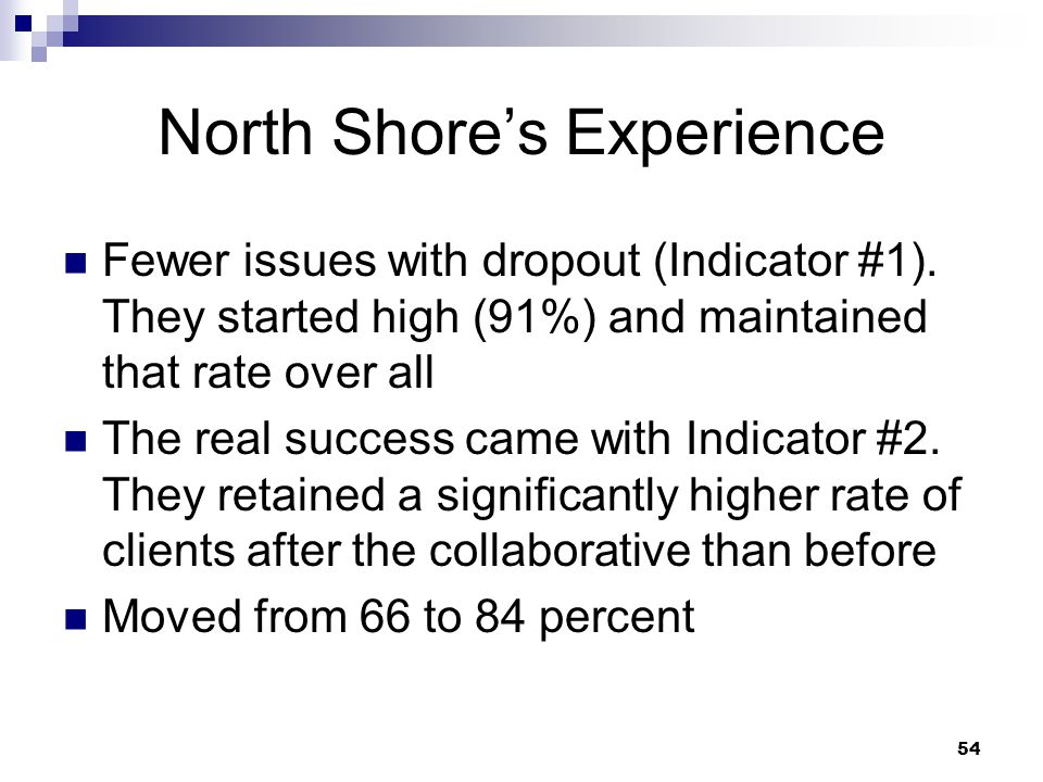 North Shore's Experience