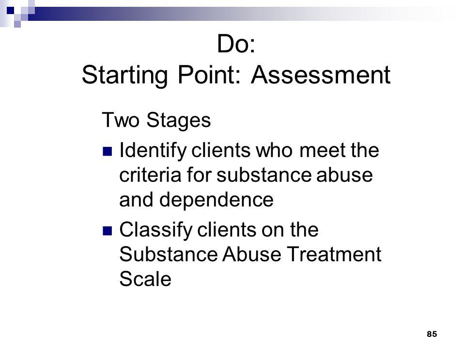 Do: Starting Point: Assessment