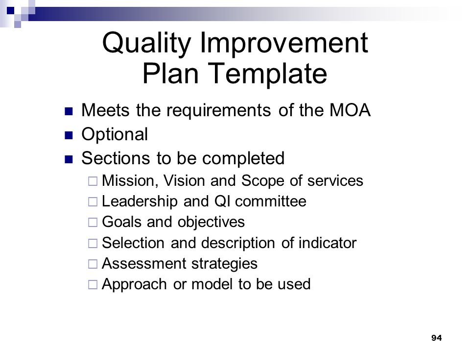 exelent quality improvement project template elaboration