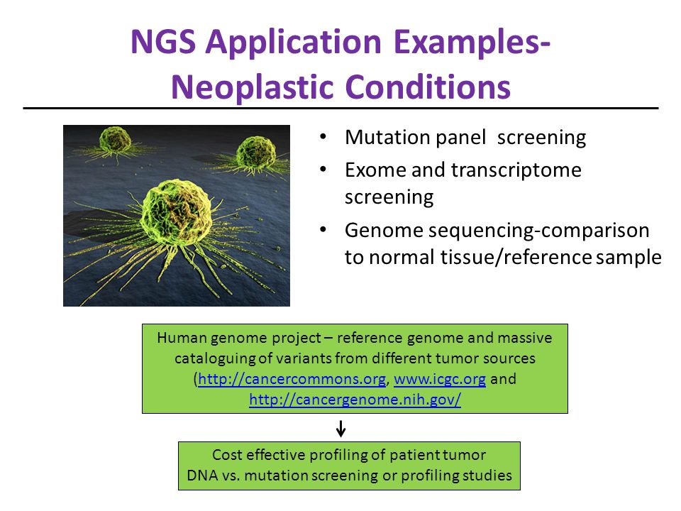 NGS Application Examples- Neoplastic Conditions