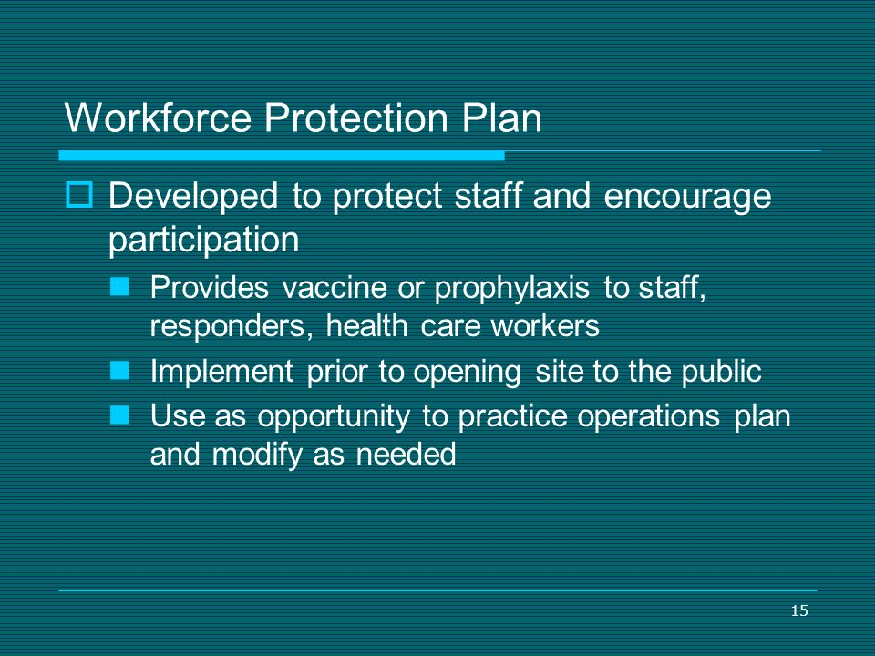 Workforce Protection Plan