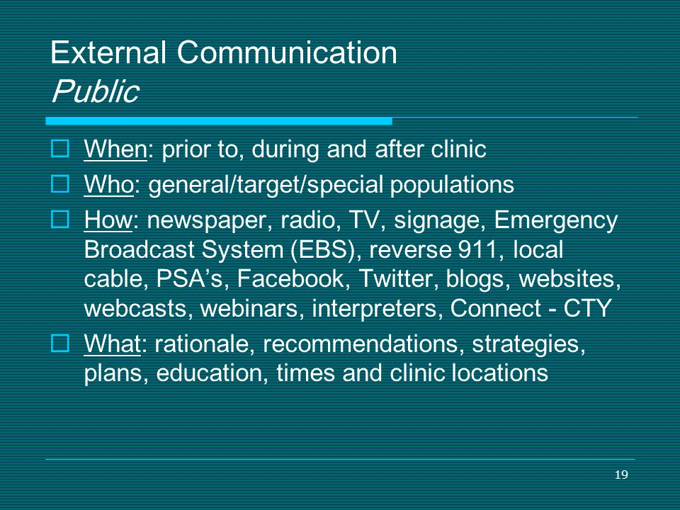 External Communication Public