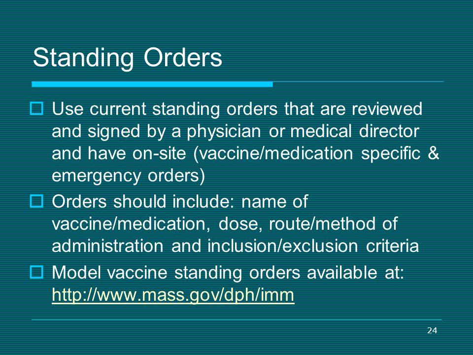 4/1/2017 Standing Orders.