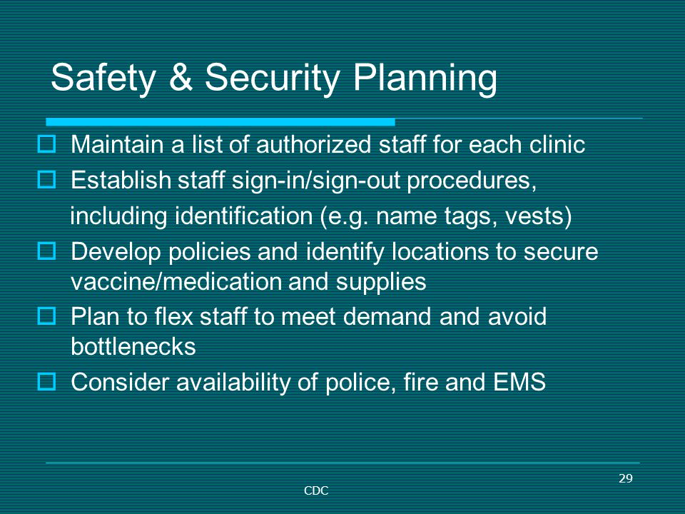 Safety & Security Planning