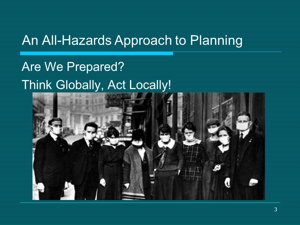 An All-Hazards Approach to Planning