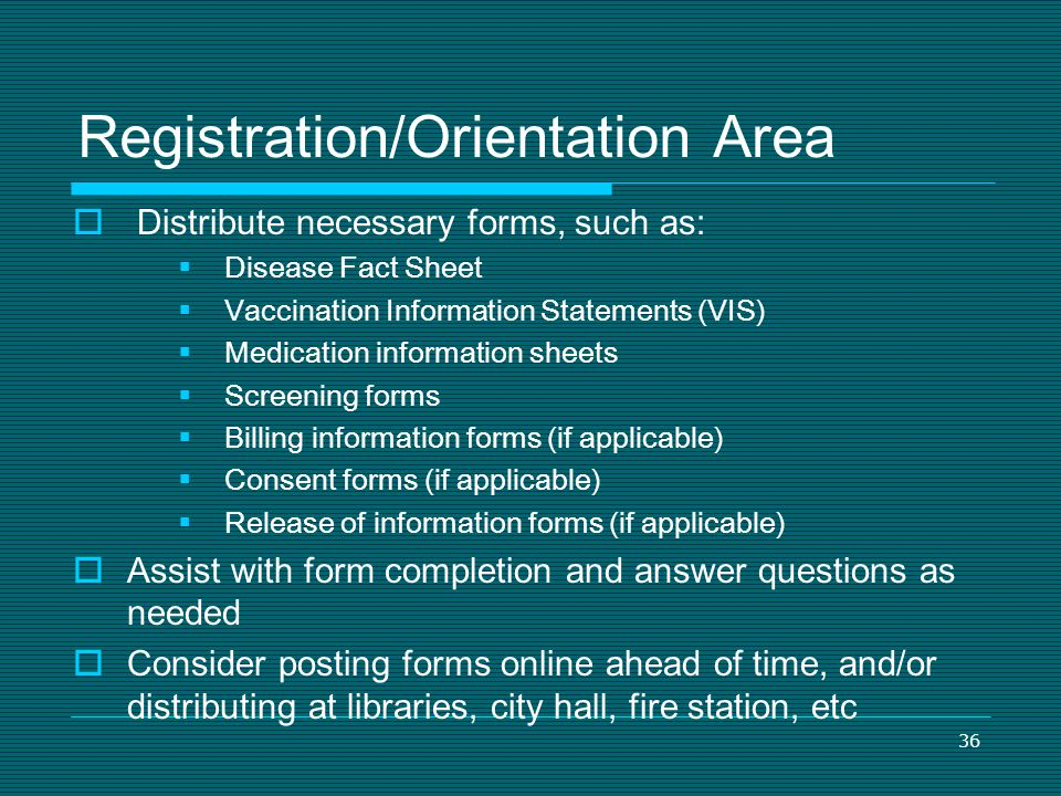 Registration/Orientation Area
