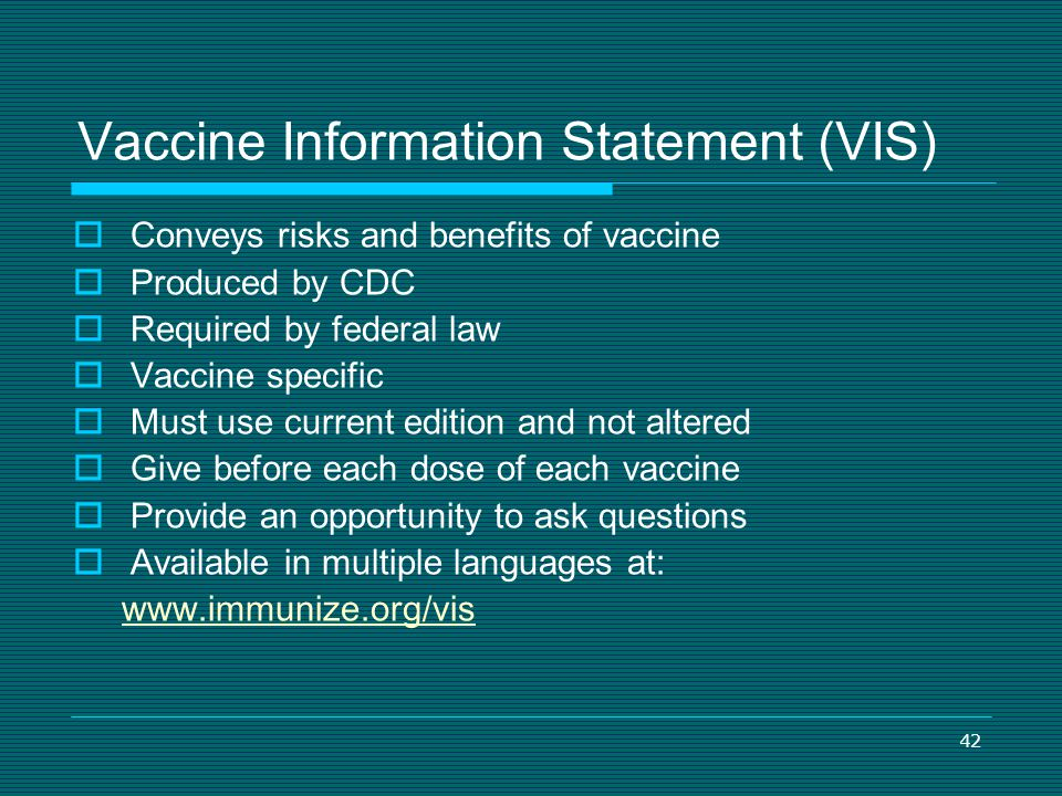 Vaccine Information Statement (VIS)