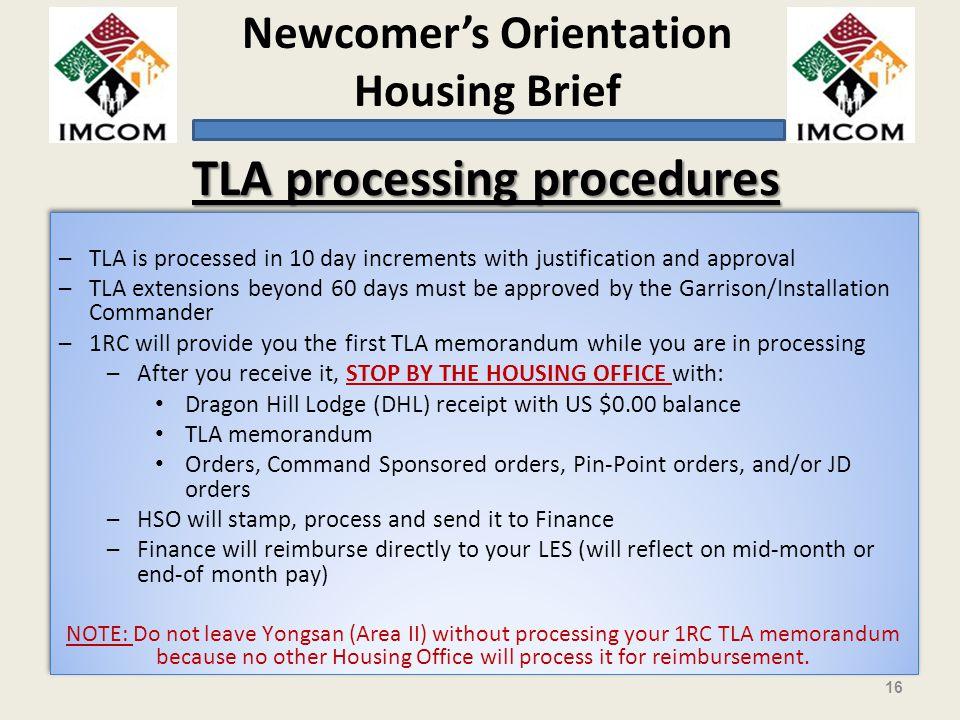 TLA processing procedures