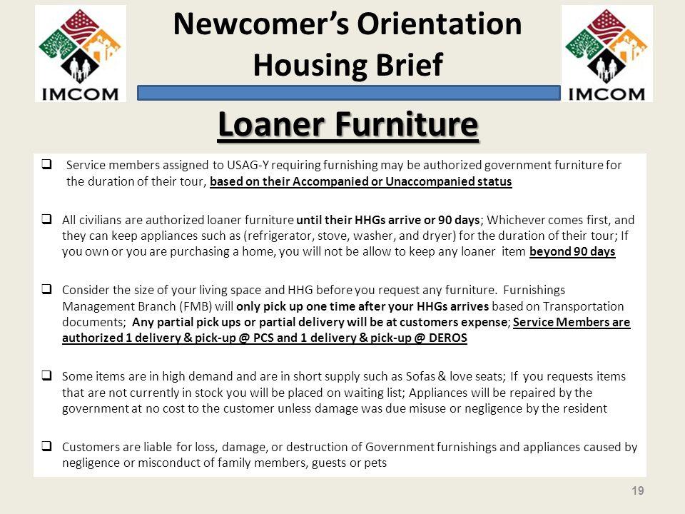 Loaner Furniture