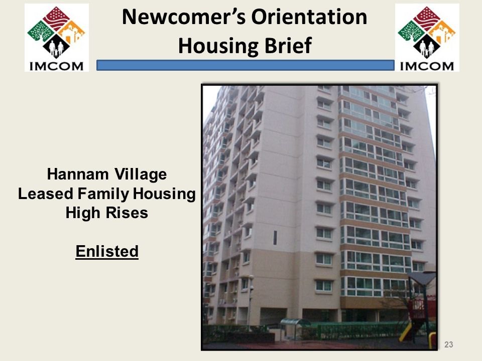 Hannam Village Leased Family Housing High Rises Enlisted