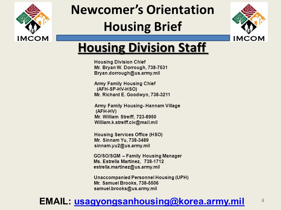 Housing Division Staff
