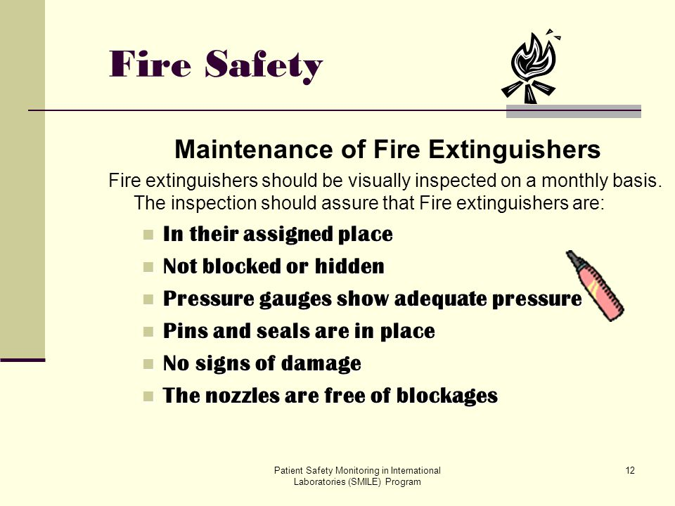 Maintenance of Fire Extinguishers