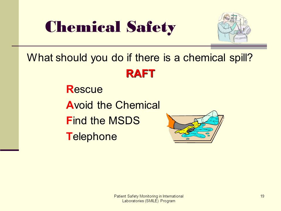 Chemical Safety What should you do if there is a chemical spill RAFT