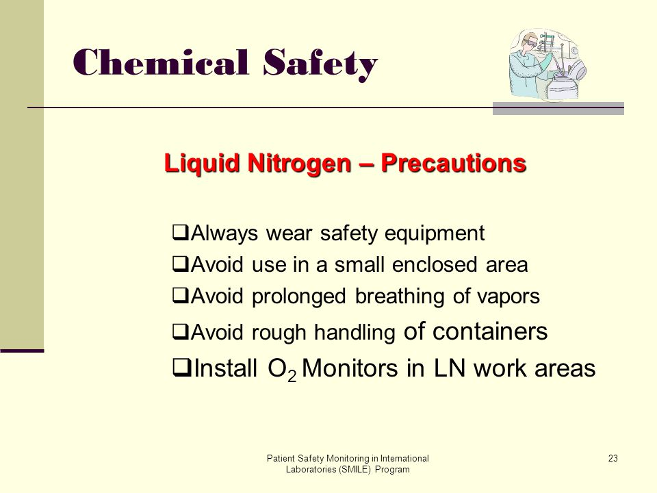Liquid Nitrogen – Precautions