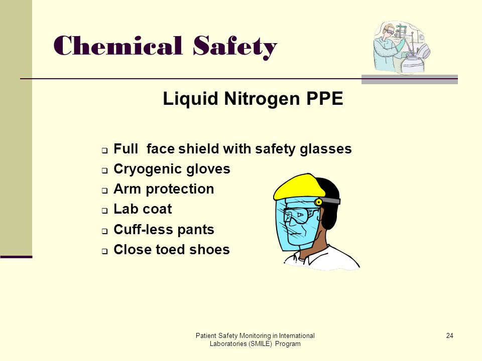Chemical Safety Liquid Nitrogen PPE