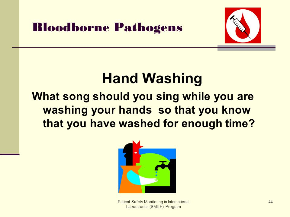 Hand Washing Bloodborne Pathogens