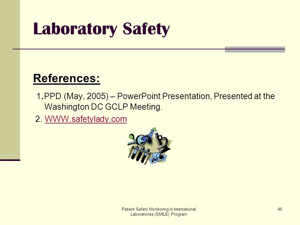 Laboratory Safety References: