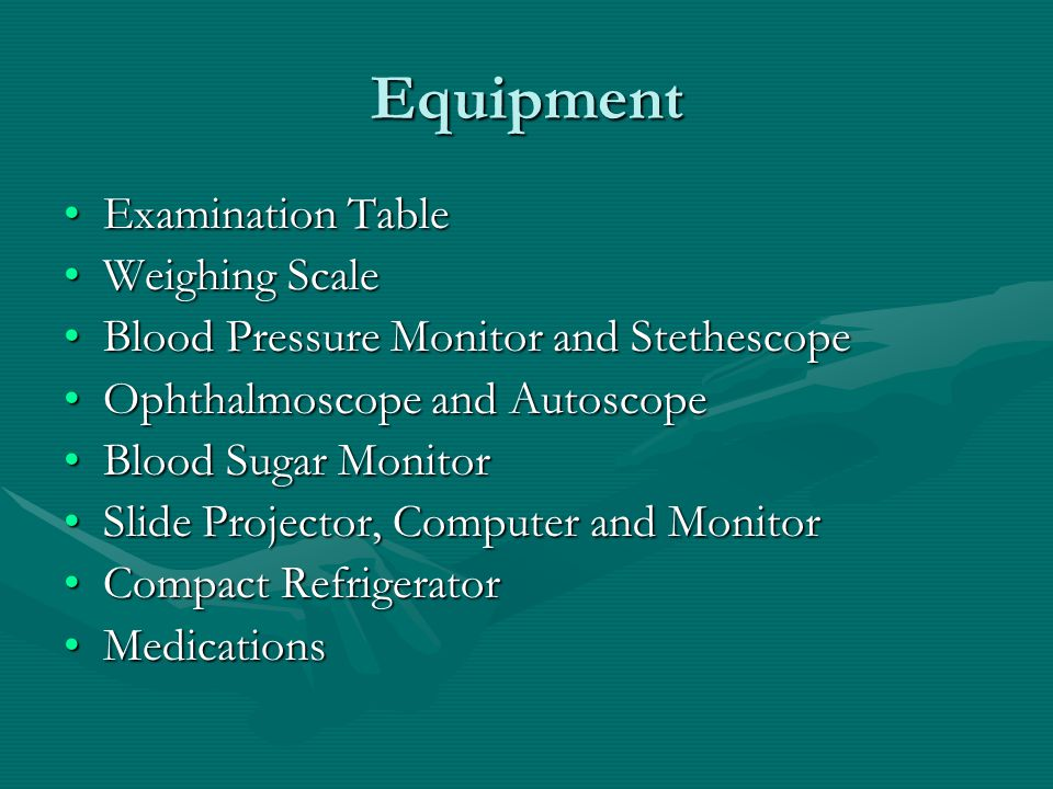 Equipment Examination Table Weighing Scale