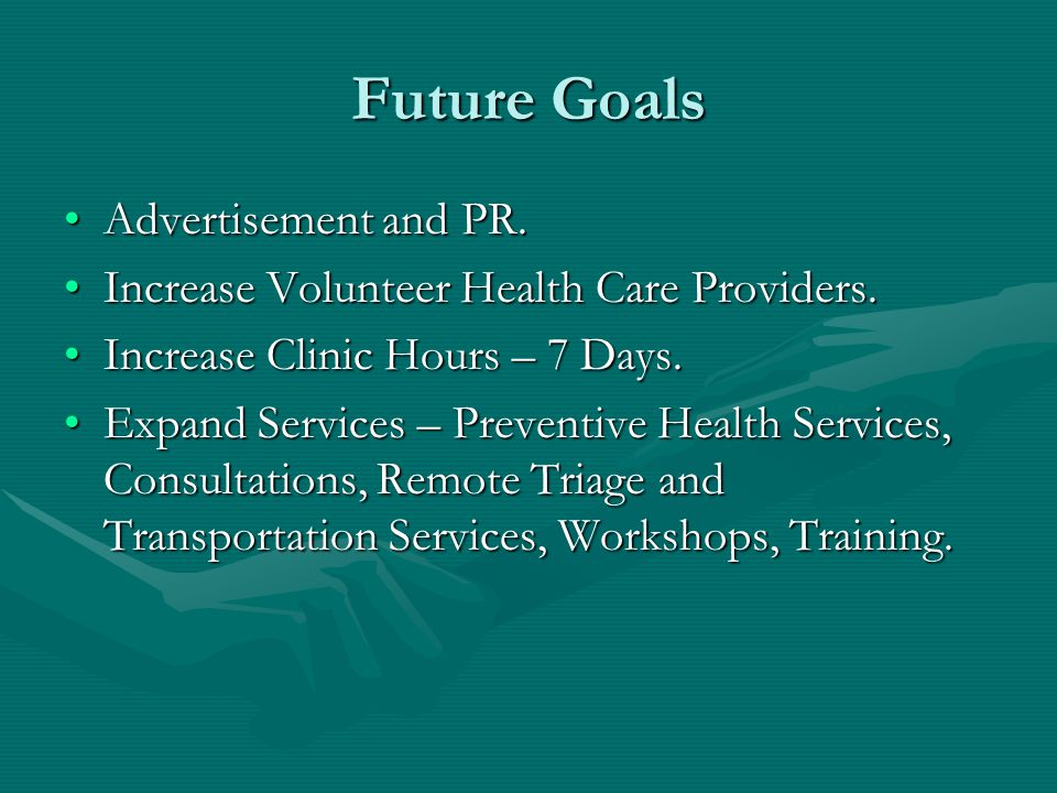 Future Goals Advertisement and PR.