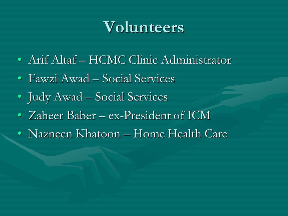 Volunteers Arif Altaf – HCMC Clinic Administrator