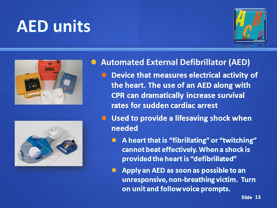 AED units Automated External Defibrillator (AED)