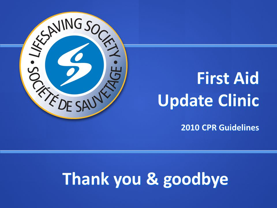 First Aid Update Clinic