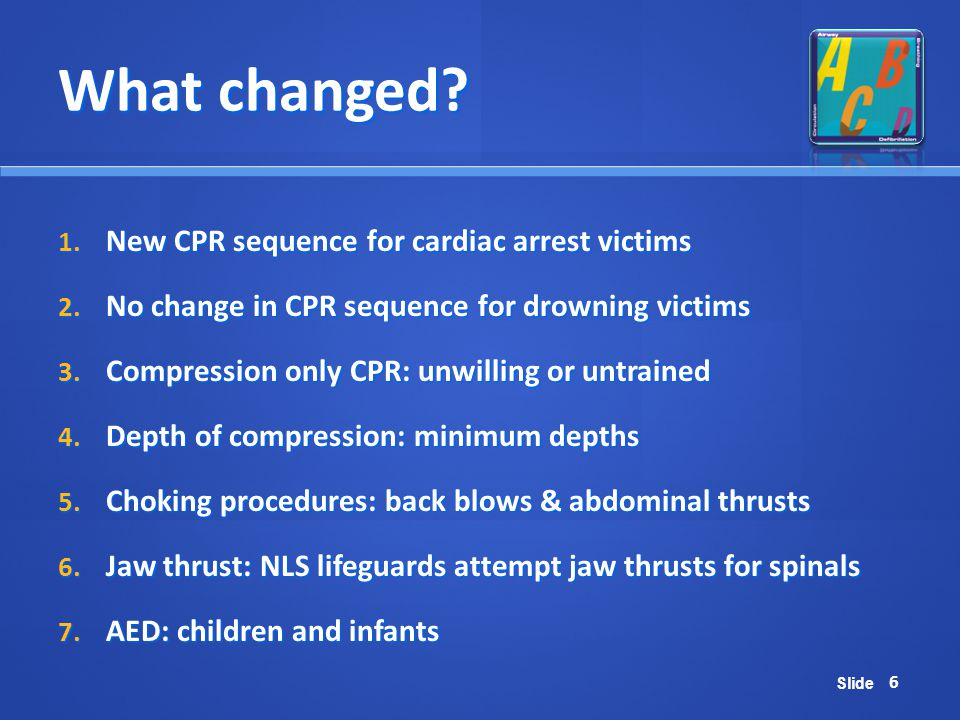 What changed New CPR sequence for cardiac arrest victims
