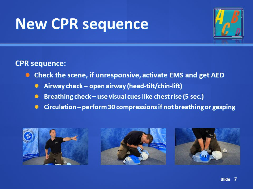 New CPR sequence CPR sequence: