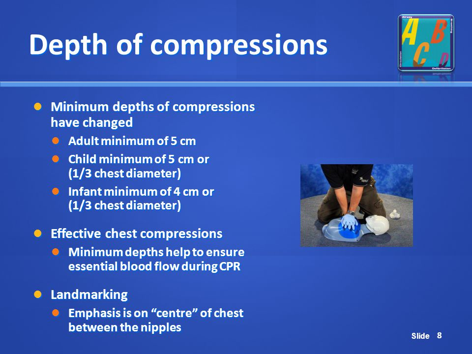 Depth of compressions Minimum depths of compressions have changed
