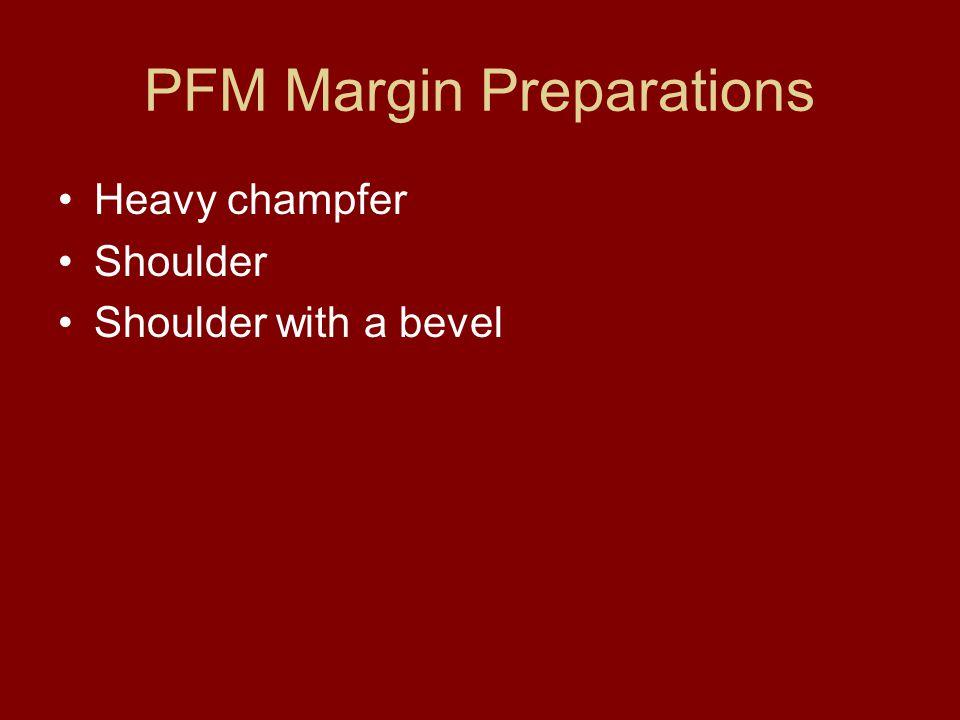 PFM Margin Preparations
