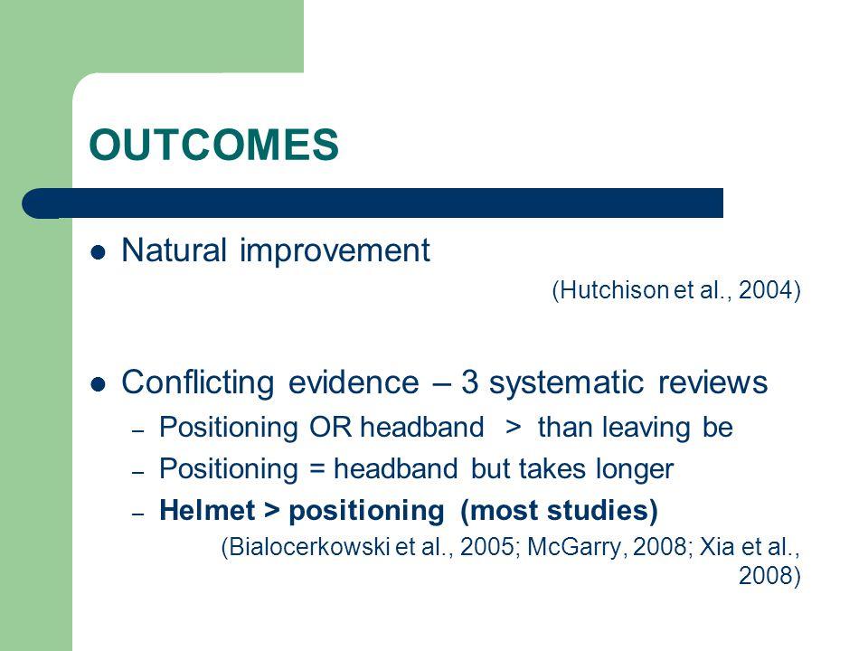 OUTCOMES Natural improvement