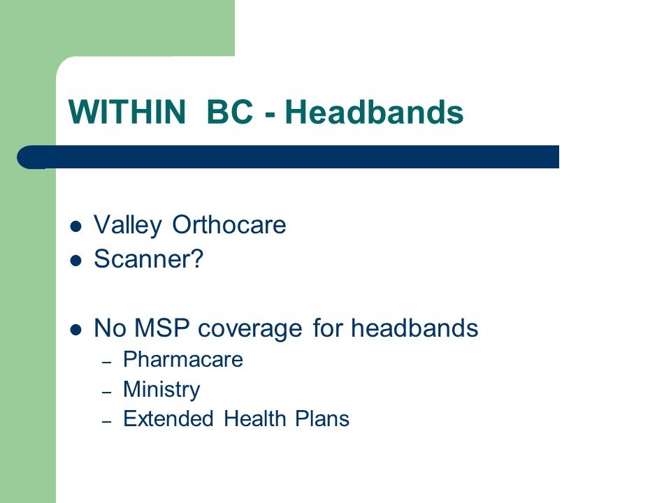 WITHIN BC - Headbands Valley Orthocare Scanner